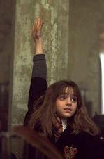 Hermione raising hand