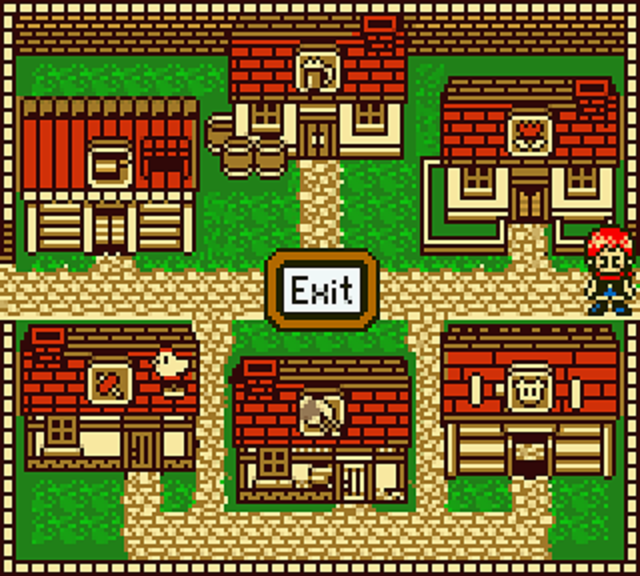 Harvest Moon GB Town Map