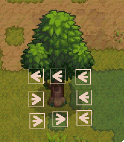 Tree fall direction