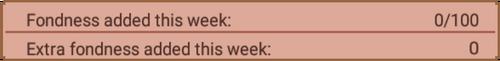 Weekly fondness