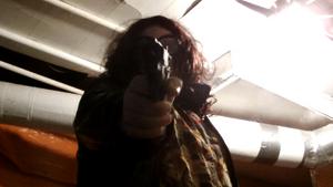 """BANG!"" Viola kills her captor."