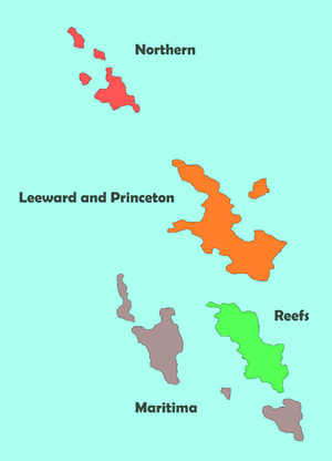 District names of the Harvian Islands