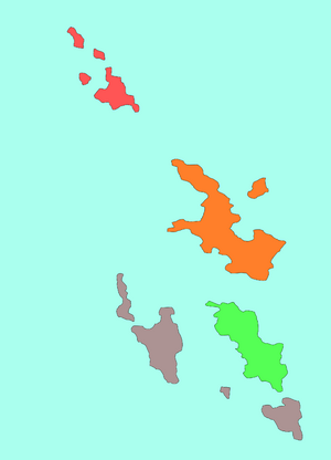 Districts of the Harvian Islands