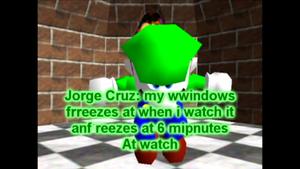 Jorge Cruz overlapped Break Brow