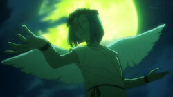 Hataraku maou sama-12-sariel-archangel-moon-wings-power-dramatic-pose