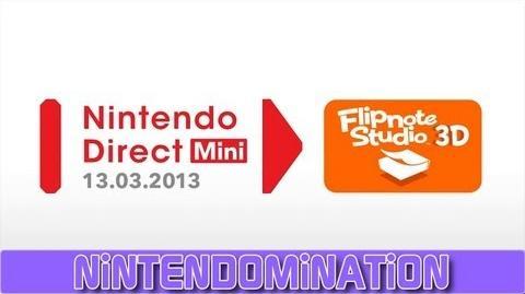 Nintendo Direct Mini 13.03.2013 - Flipnote Studio 3D - EURO announcement