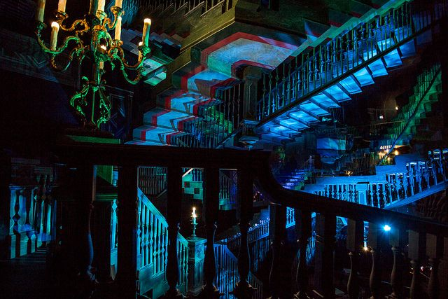 The Endless Staircase Is A Surreal Space Found Only Within The Haunted  Mansion At The Magic Kingdom.