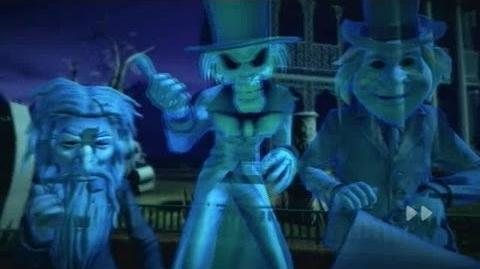 Haunted Mansion cutscenes in Kinect Disneyland Adventures - Virtual tour gameplay on Xbox 360
