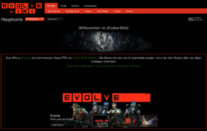 Evolve Wiki Hauptseite