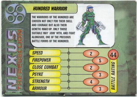 Hundred Warrior Card Front