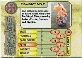 Bio-Morph Titan card front