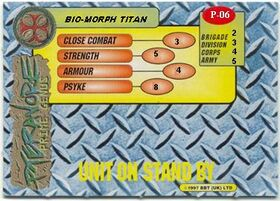 Bio-Morph Titan card rear