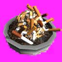 Icons decorations ashtray
