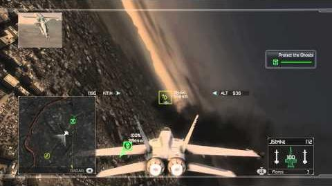 Tom Clancy's H.A.W.X - Mission 1- Ghost Rider -HD- -Elite Difficulty-