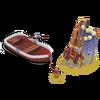 Barco de pesca reparado