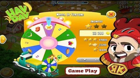 Hay Day Gameplay - The Wheel of Fortune Respins for Vouchers