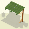 Awning Green Wooden
