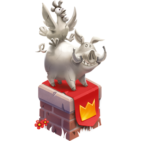 Pig Rider Statue (players w/ a Supercell ID)