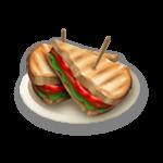 Toast con bacon