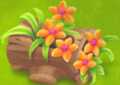Bûche fleurie