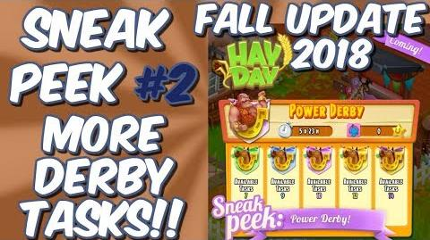 HAY DAY-SNEAK PEEK 2!! FALL UPDATE 2018!! POWER DERBY!! MORE DERBY TASKS!!