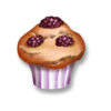 Brombeer-Muffin