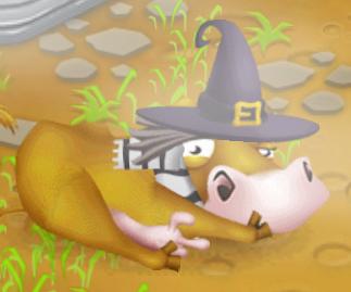 Mucca affamata halloween