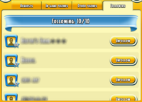 Friend Book Followers Tab
