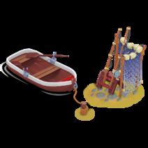 Barca da pesca riparata