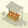 Crates Green Wooden