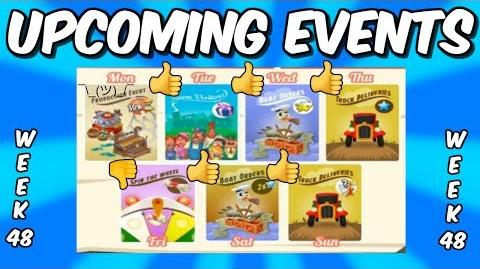 HAY DAY-UPCOMING EVENTS!! DOUBLE XP TRUCKS & BOATS!! PUZZLE BOATS!!