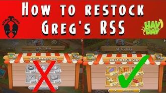 Hay Day Update-How to Restock Greg's RSS!!