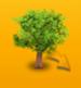 Albero con foglie