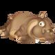 Hippopotame Brun