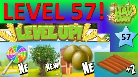 HAY DAY - LEVEL 57! OLIVE TREE, LOLLIPOP, OLIVES, 5 DIAMONDS AND 2 FIELDS!