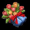 Zuecos con tulipanes