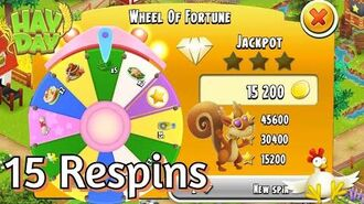 Hay Day 15 Respins of the Wheel of Fortune!