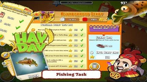 Hay Day Fishing Task - The Last Derby Task