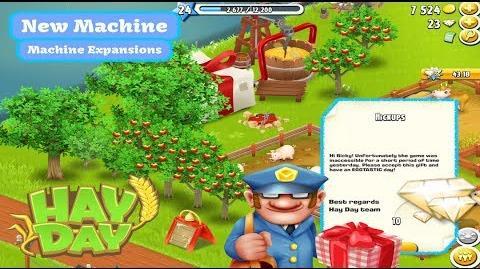 Hay Day William - New Machines, Machine Upgrades