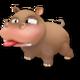 Bébé Hippopotame Brun