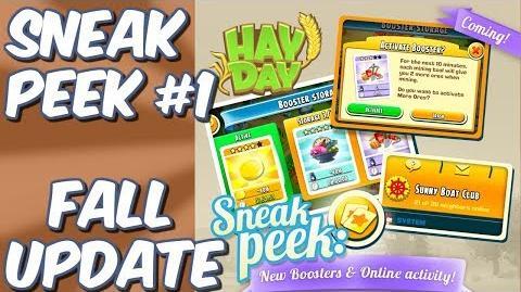 HAY DAY-SNEAK PEEK 1!! FALL UPDATE 2018!! NEW BOOSTERS!! ONLINE ACTIVITY!!