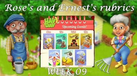 Hay Day Rose's and Ernest's Rubrics Upcoming Events! Week 09!-0