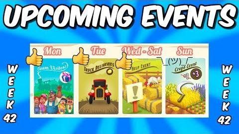 HAY DAY-UPCOMING EVENTS!! DOUBLE COIN TRUCKS!! GLOBAL HELP EVENT!!