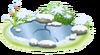 Kleiner gefrorener Teich