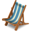 Silla de playa océano