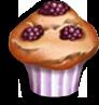 Bjørnebærmuffins