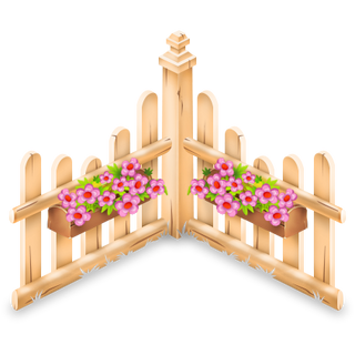 Flower Fence x5