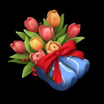 Scarpe Con Tulipani
