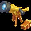 Telescopio dorato