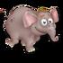 Cría elefante gris